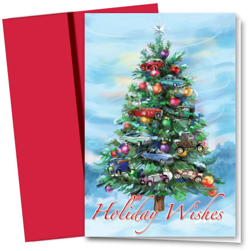 Personalized Deluxe Full-Color Holiday Cards - Mystical Evergreen