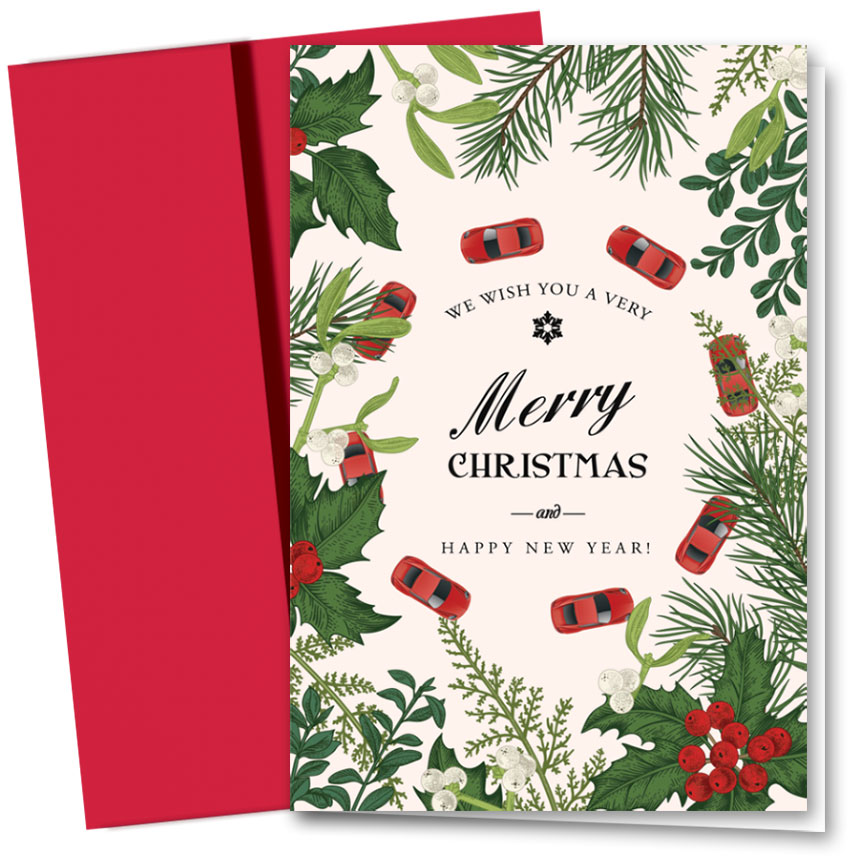 Personalized Deluxe Full-Color Holiday Cards - Around the Holidays