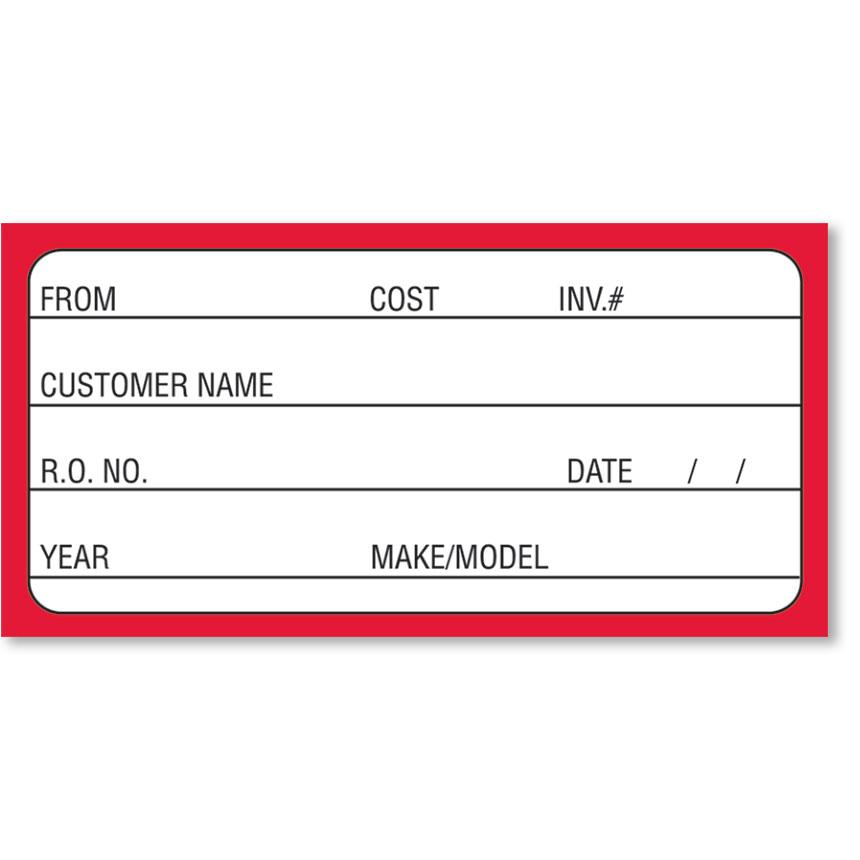 Removable Parts Label