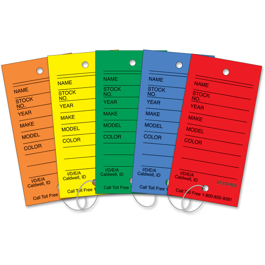 Vinyl Key Tags Assortment Package