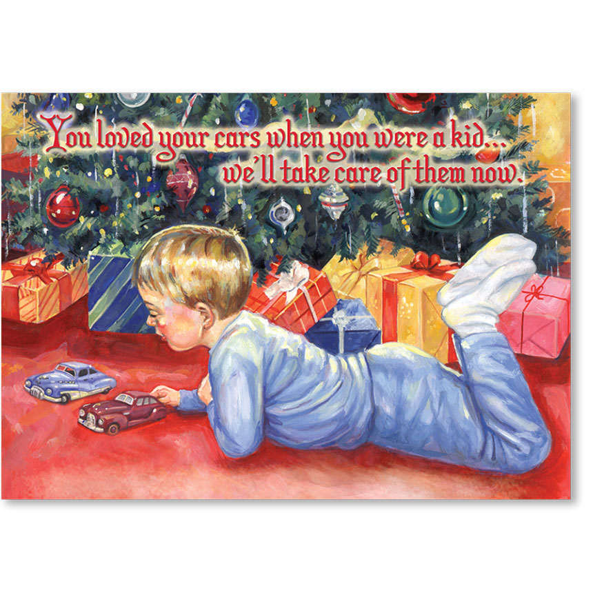 Personalized Full-Color Holiday Postcard - Christmas Wishes