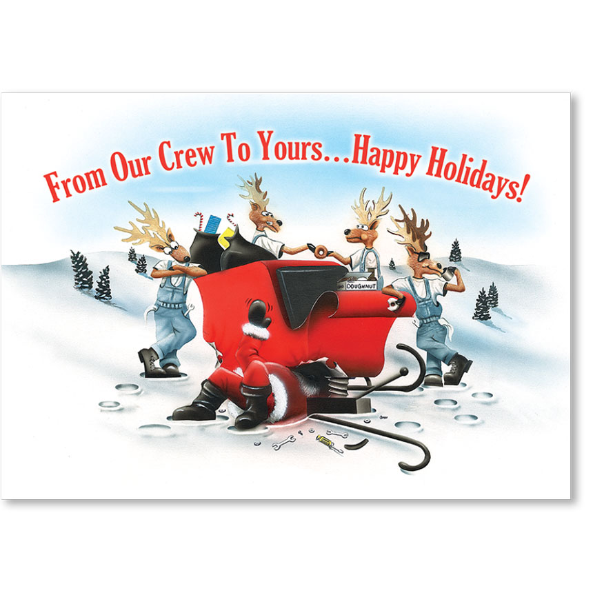 Personalized Full-Color Holiday Postcard - From Our Crew