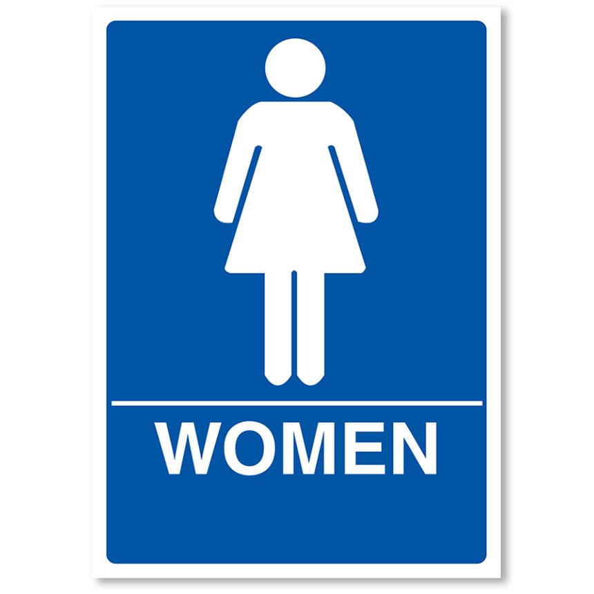 """ADA Compliant Signs - Women 7"""" X 10"""""""