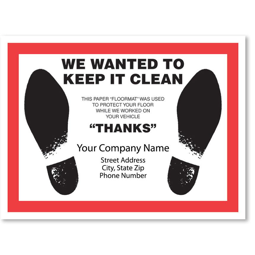 Full Color Floormats - Keep it Clean