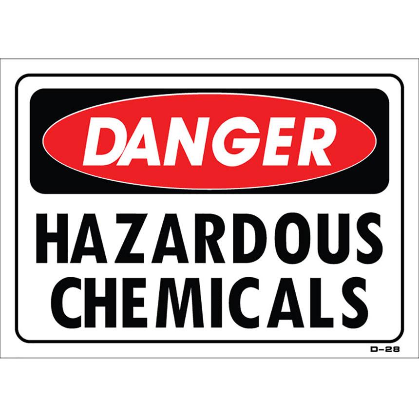 """Shop Sign – Hazardous Chemicals 14"""" x 10"""""""