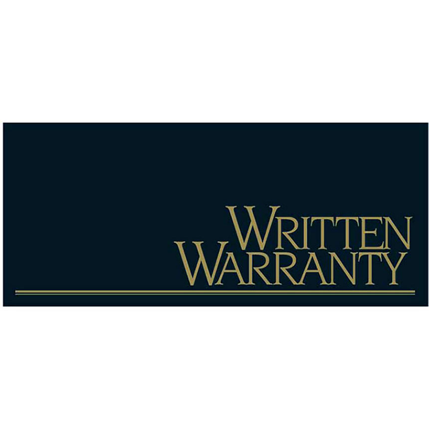 Auto Repair Written Warranty - Metallic Ink, Black and Gold