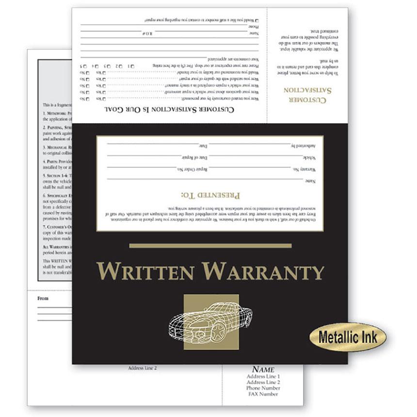 UPDATED - Customer Satisfaction Warranty - Black & Gold Wireframe
