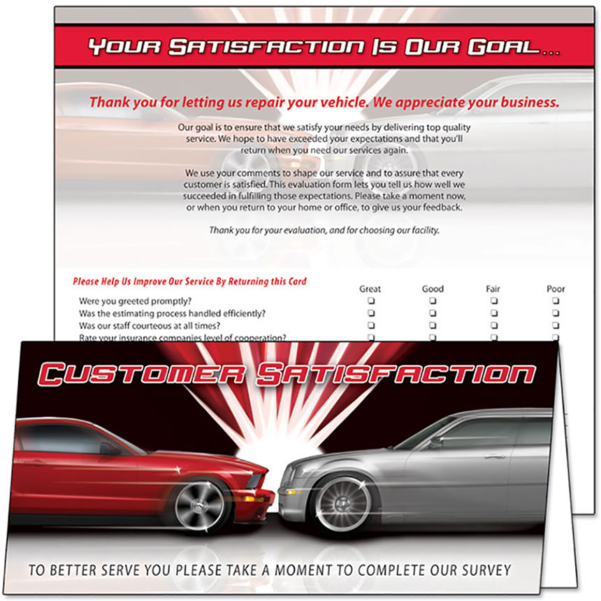 Customer Satisfaction Response Card  - Our Goal