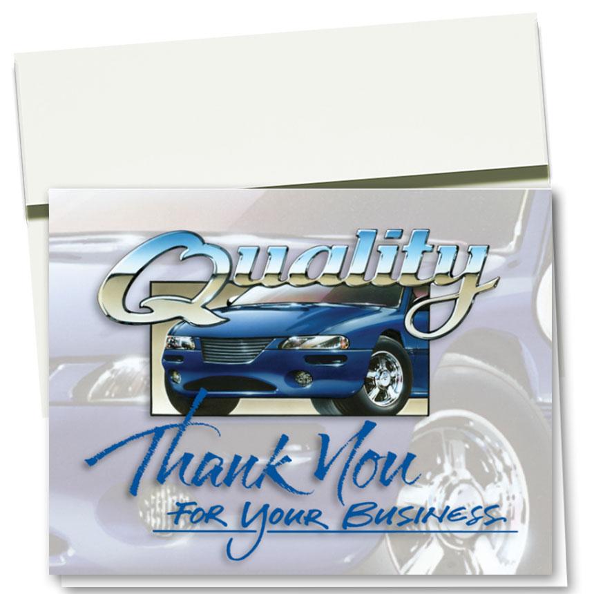 Auto Repair Thank You Cards  - Superior Quality
