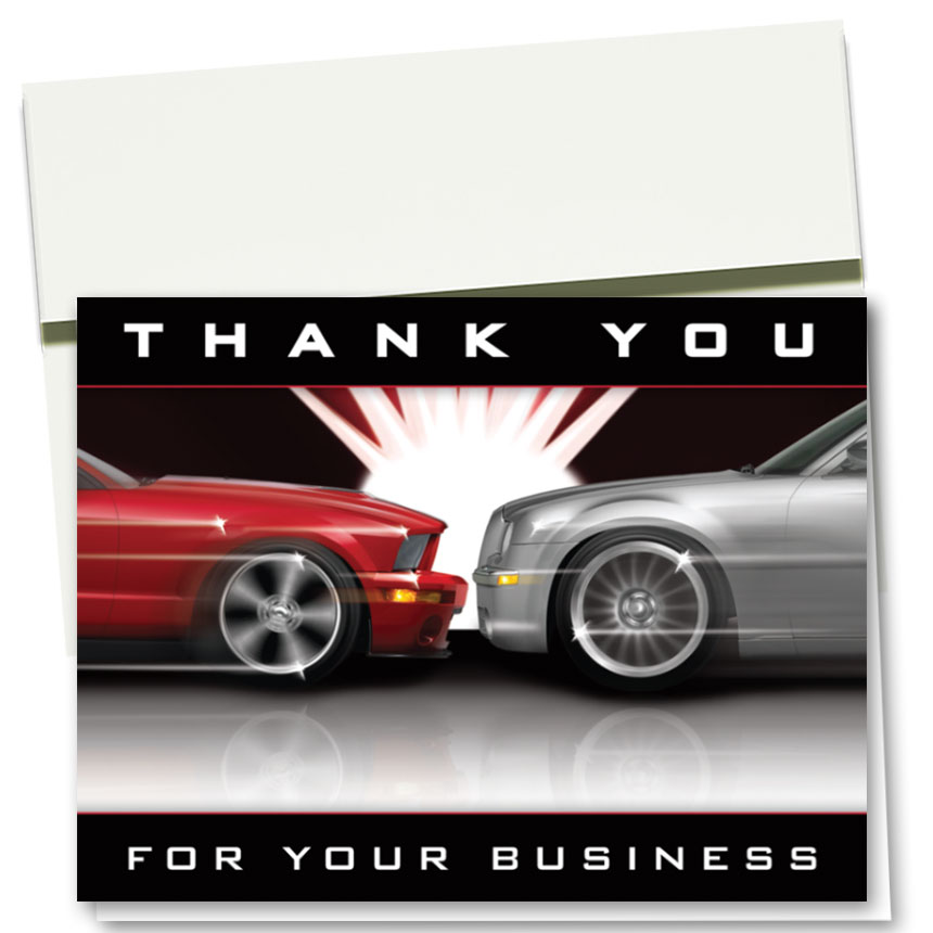 Auto Repair Thank You Cards - Flash
