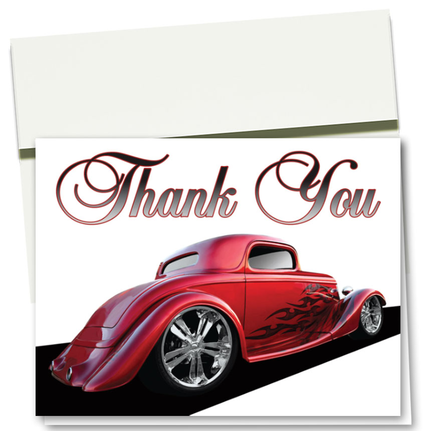 Auto Repair Thank You Cards  - Hot Rod Coupe