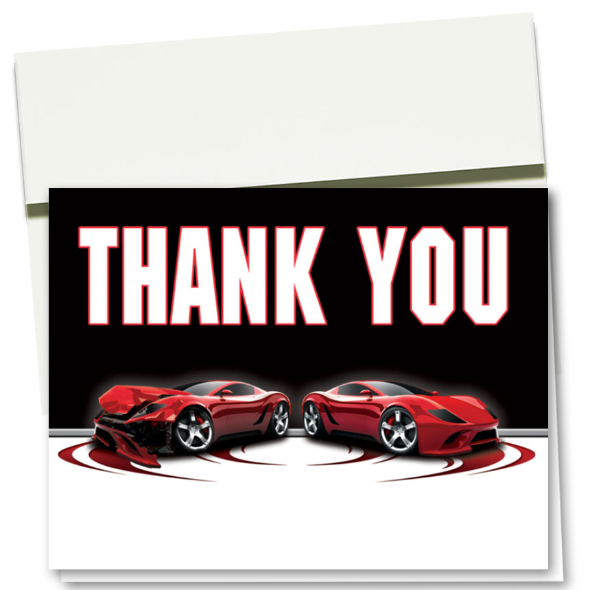 Auto Repair Thank You Cards  - Before & After