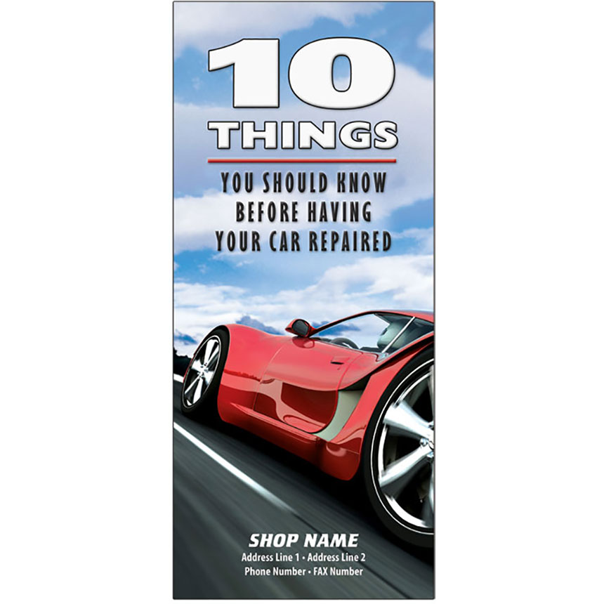"Auto Repair Brochures - ""10 Things"" Red Racer"
