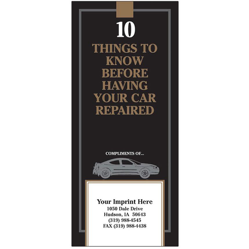 "Auto Repair Brochures - ""10 Things"" Black & Gold"