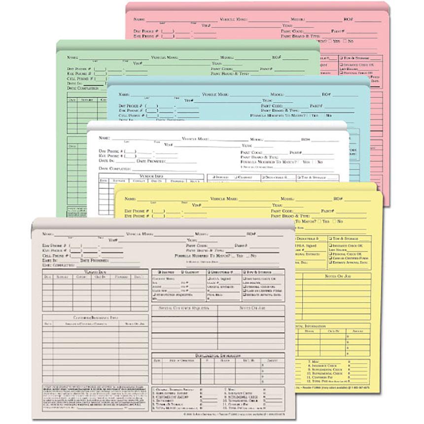 Repair Order Folders - Color  (100)