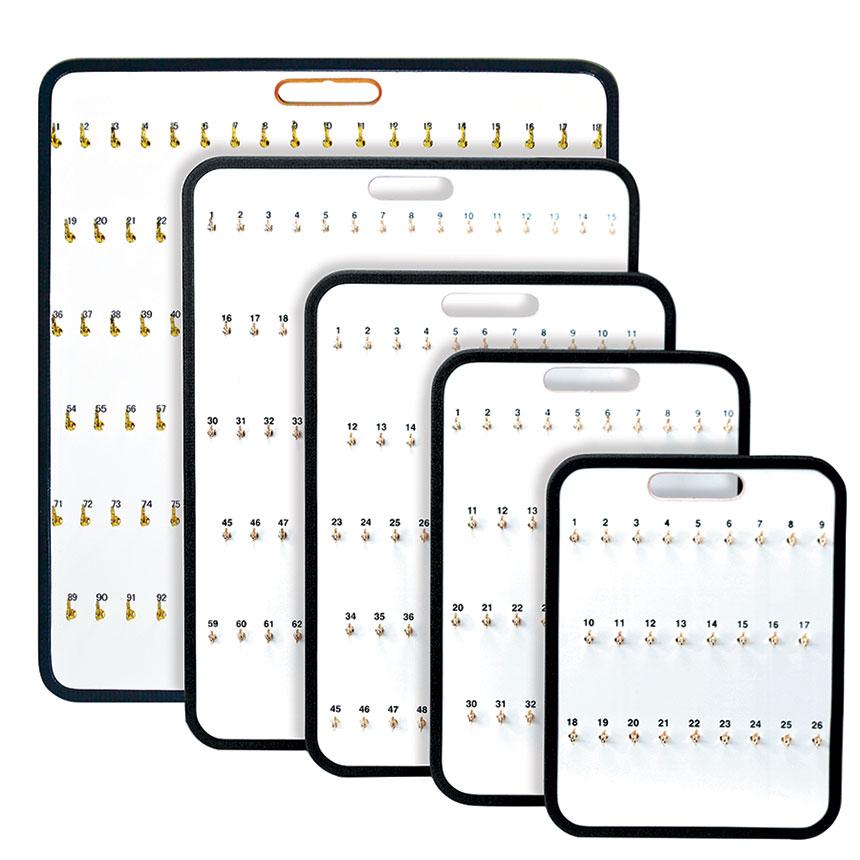 Portable Key Storage Board with Spring Hooks - 38 Keys