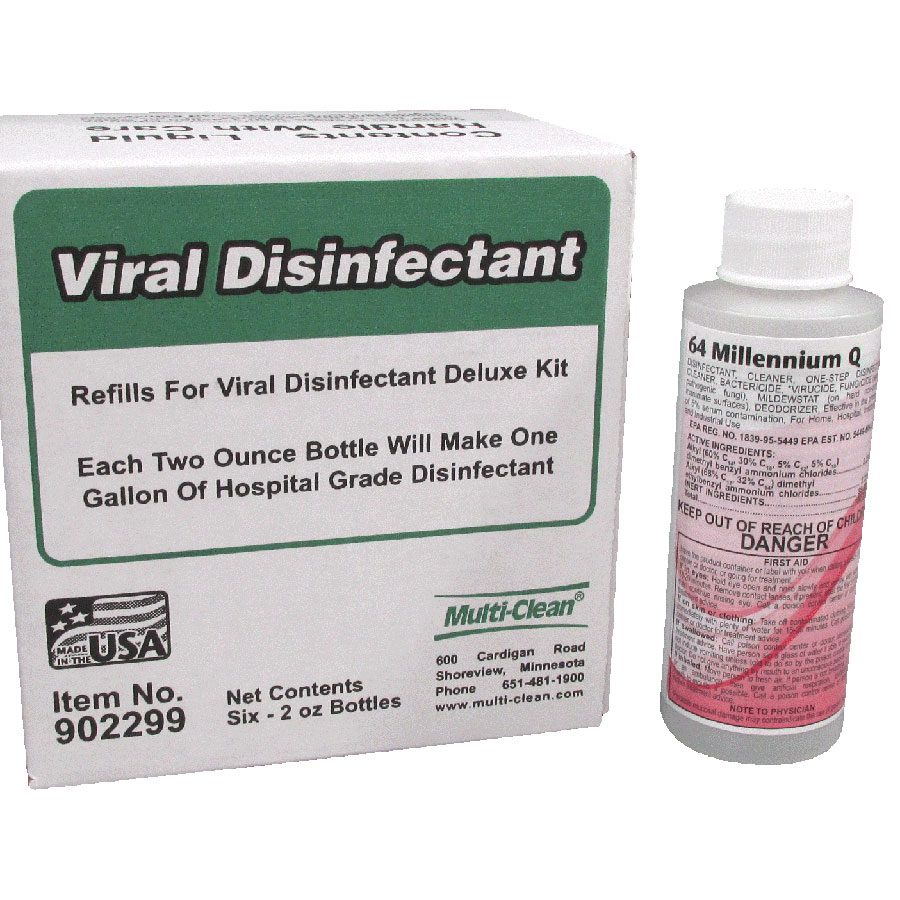 Viral Disinfectant Concentrate 2oz Refill-Pack of 6