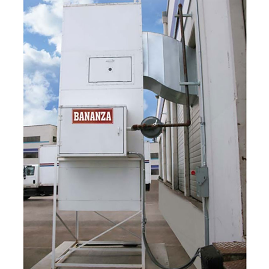Bananza SPRAY-CURE™ B-Series Direct-Fired Make-up Air System with White-Painted Finish BZ-1000