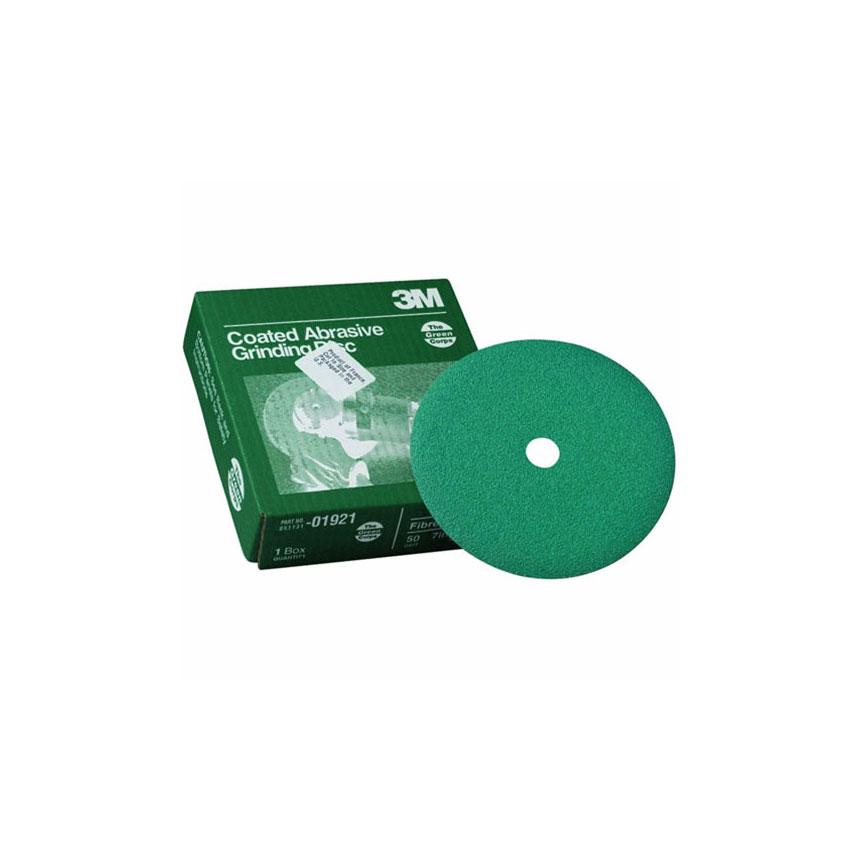 """3M™ Green Corps 7"""" Fibre Grinding Discs"""