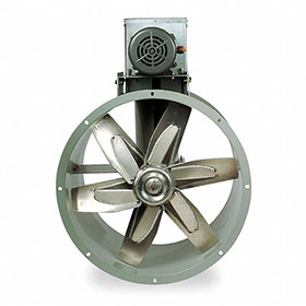 "Dayton 18"" 1-Phase Tubeaxial Fan, 115/208-230V, 2255 RPM, 1.5HP"