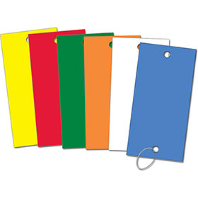 Color-Coded Vinyl Key Tags