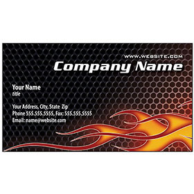 Full-Color Auto Repair Business Cards - Flame Thrower