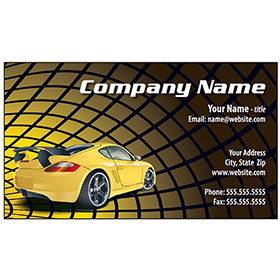 Full-Color Auto Repair Business Cards - Yellow Porche