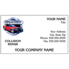 Full-Color Auto Repair Business Cards - Circle of Quality