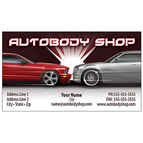 Full color auto body business cards for automotive marketing auto full color auto repair business cards flash reheart Gallery