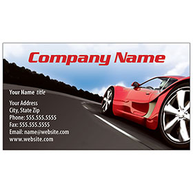 Full-Color Auto Repair Business Cards - Red Racer