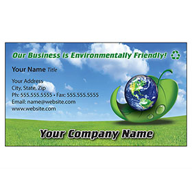 Full-Color Auto Repair Business Cards - Go Green Waterborne
