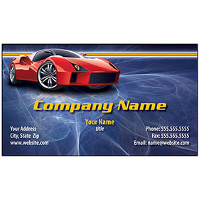 Full-Color Auto Repair Business Cards - Red Exotic