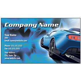 Full-Color Auto Repair Business Cards - Blue Ice