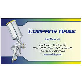Full-Color Auto Repair Business Cards - Paint Gun