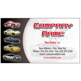 Full-Color Auto Repair Business Cards - Corvette Heritage