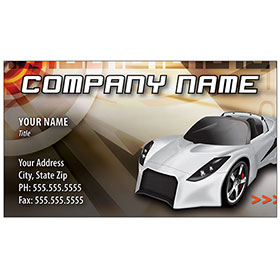 Full-Color Auto Repair Business Cards - Lotus