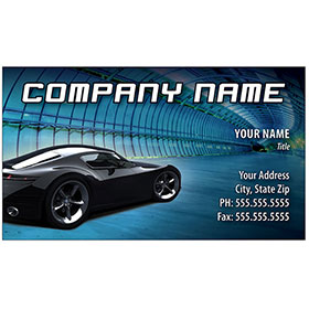 Full-Color Auto Repair Business Cards - Tunnel