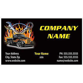 Full-Color Auto Repair Business Cards - Souped-Up Truck