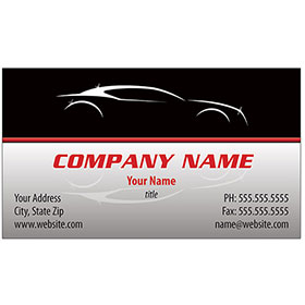 Full-Color Auto Repair Business Cards - Silhouette