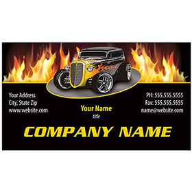 Full-Color Auto Repair Business Cards - Fire Coupe