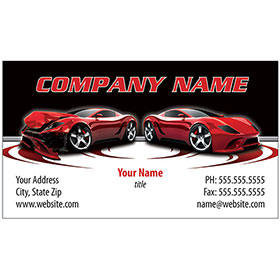 Full-Color Auto Repair Business Cards - Before and After