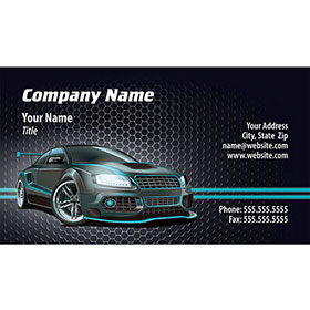 Full-Color Auto Repair Business Cards - Tuner Lights