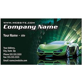 Full-Color Auto Repair Business Cards - Green Burst