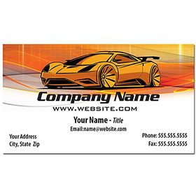 Full-Color Auto Repair Business Cards - Golden Concept