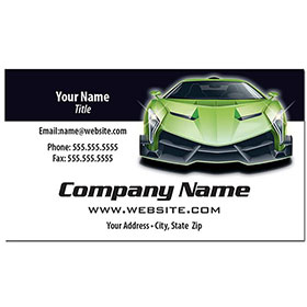 Full-Color Auto Repair Business Cards - Green Machine