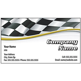 Auto Repair Business Cards with Foil - Finish Line
