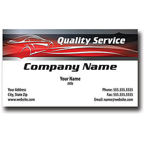 Auto Repair Business Cards with Foil - Silhouette