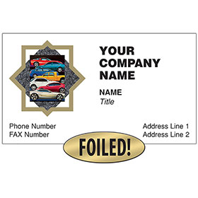 Auto Repair Business Cards with Foil - Stacked Cars