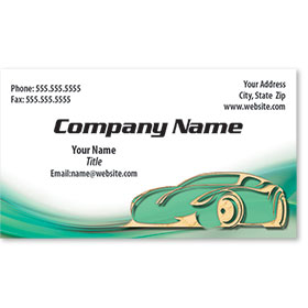 Business Card Foil - Green & Gold