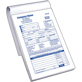Towing Report Book with Checklist - 3 Park Carbonless